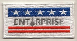 NASA Space Shuttle Enterprise Embroidered Flag Patch